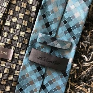 Calvin Klein and Geoffrey Beene ties